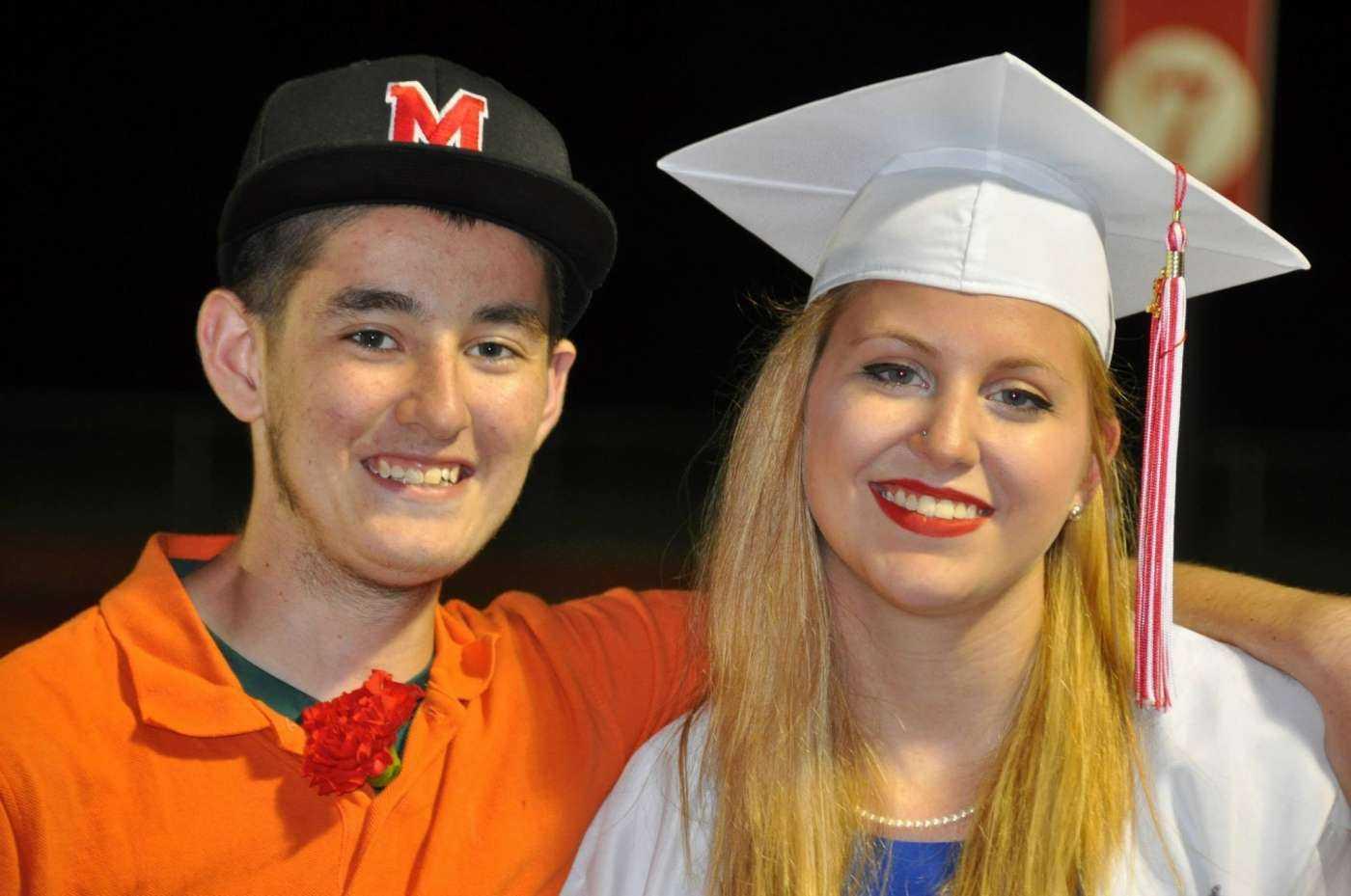 Liv and Nick at graduation