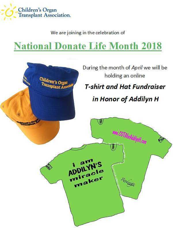 T-shirt and Hat Fundraiser