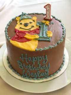 Wesley's Pooh Birthday Cake