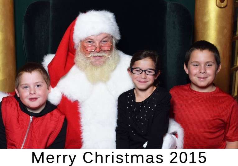 1-2015 Year End Raether Triplets TODAY with Santa (003)